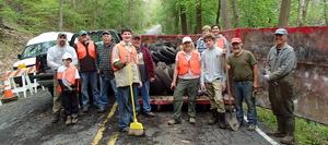 Angelica Creek cleanup 4 30 16 group photo (Jill Kemp)